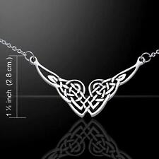 Endless Knot Irish Celtic Knotwork Sterling Silver Necklace