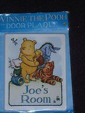 Disney Winnie-the-Pooh jOE'S Room door plaque BRAND NEW