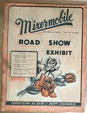VERY RARE 1947 MIXERMOBILE SCOOPMOBILE ROAD SHOW EXHIBIT BROCHURE FLYER