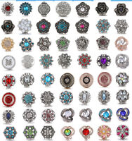Pretty 3D Crystal Chunk Charm Snap Button Fit 18mm Drill Noosa DIY Jewelry