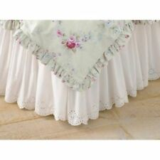 NEW SIMPLY SHABBY CHIC WHITE EYELET BEDSKIRT CAL KING QUEEN OR TWIN BED SKIRT
