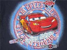 NEW Boys Navy Disney CARS 7 Lightning McQueen Camo Shirt Top Blue T-Shirt Car
