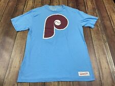 Philadelphia Phillies Men's Light Blue MLB Baseball Shirt Mitchell & Ness Small