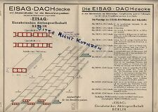 BERLIN, Prospekt 1930, EISAG Eisenbeton AG Eisag Dach Decke