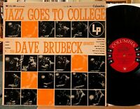Dave Brubeck Quartet Jazz Goes to College Vinyl LP Columbia 6-Eye CL 566 Mono VG