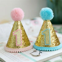 Pet Dog Cat Sequins Birthday Hat Party Costume Crown Headwear Accessory Gifts