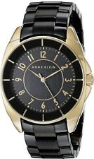 Anne Klein Watch * 1978BKGB Black Gold 2 Tone Steel & Ceramic COD PayPal