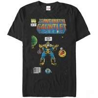 Official Licensed Marvel Infinity Gauntlet Cover Thanos Black T-Shirt