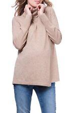 Seraphine Akira Cowl Neck Maternity/Nursing Top In Camel - Size XL
