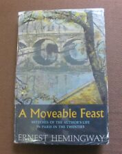 "A MOVEABLE FEAST - Ernest Hemingway - 1st/1st HCDJ ""A"" -$4.95 -1964 PARIS"