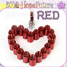 20 X RED STEEL WHEEL TUNER NUTS M12x1.5 fit HONDA MAZDA TOYOTA MITSUBISHI FOR