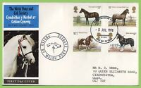 G.B. 1978 Horses set on Welsh Pony Express official First Day Cover, Aberystwyth
