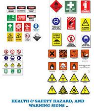 Salute e sicurezza pericolo & segnali di allarme + POSTER COLLEZIONE OLTRE 7000