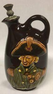 Antique Royal Doulton Noke Dewar's Kingsware Lord Nelson Whisky Flask circa 1914