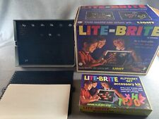 Vintage 1967 Lite-Brite 5455 By Hasbro With Pegs And 5471 Alphabet Set