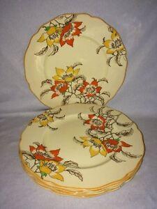 "**VERY RARE** Royal Doulton 'Magnella' 5 x 10"" Dinner Plates (D5128)"