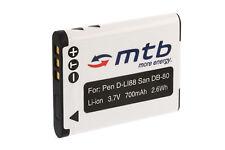 Batería DB-L80 DBL80 para Sanyo Xacti VPC-CA100, CG10, CG20, CG21, CG100, CG102