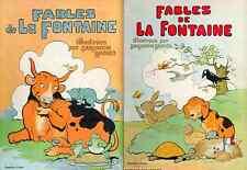 Fables de La Fontaine illustrées par Benjamin Rabier.2 vol.,Tallandier 1930-35