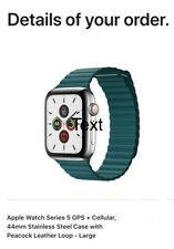 Apple IWatch Series 5 Gps+ Cellular Stainless Steel case peacock leather loop