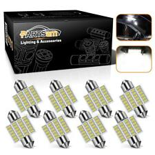 x8 6000K Festoon 31mm Super Bright 24-3014 Chip LED 3021 3022 3175 For Dome Map
