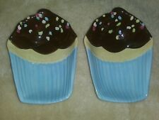 Oneida Confettie Cakes set of two ceramic cupcake candy dishes