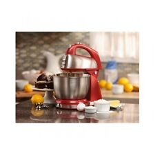 6 SPEED HAMILTON BEACH CLASSIC STAND MIXER KITCHEN BAKING STAINLESS STEEL RED