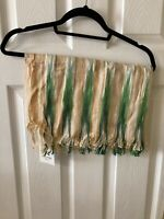 New Nice Things Boho Stripe Cotton Scarf, Ochre/Green, RRP £28