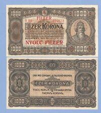 Hungary, 8 filler on 1000 korona, 1923 (1925), UNC, P 81b