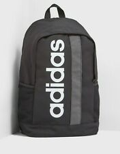 adidas Linear Backpack Black Classic School Bag Sports Gym College Rucksack NEW