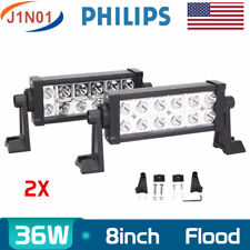 2X Philips 8inch 36W LED Work Light Bar Jeep Fog Driving Flood Light SUV Slim US