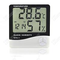 Thermometer Indoor Digital LCD Temperature Humidity Meter Alarm Clock Home US RF