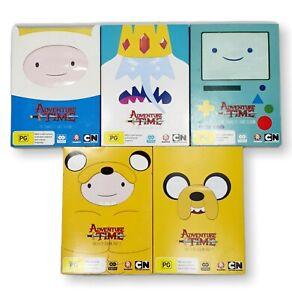 ADVENTURE TIME - COMPLETE SEASONS 1,2,3,5  REGION 4 - 10 X DVD DISCS