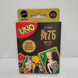 Mattel Uno M75 75th Anniversary Card Game 2020 Barbie Hot Wheels GVP48 HTF