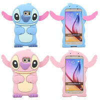 Cute 3D Lovely Cartoon Stitch Soft Silicone Gel Back Case Cover For Mobile Phone
