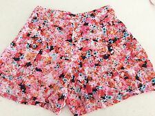 BARDOT WOMENS SHORTS PURE VISCOSE FLORAL  PRINT Adj.waist COLOURFUL SZ 14