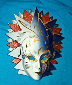 RARE Venetian Mask Art Nouveau Handmade Ceramic Italian