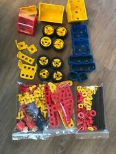 Vintage 1990s Meccano Set Wheels Tractor Digger Construction Toys Under 1kg 926g