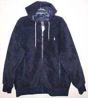 Polo Ralph Lauren Mens Navy Blue Full-Zip Sherpa Fleece Jacket NWT $198 Size L