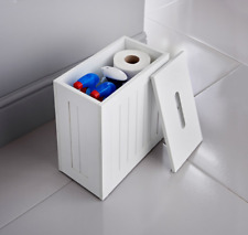 Maine Crisp White Finish Bathroom Storage Unit Toilet Storage Cleaning Tidy Box