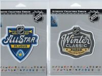 2020 NHL ALL STAR GAME WINTER CLASSIC PATCH SET NATIONAL HOCKEY LEAGUE OFFICIAL