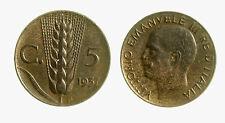 pcc2035_2) Vittorio Emanuele III (1900-1943) 5 cent Spiga 1937
