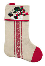 Snowman Christmas Tree Stocking 18x11 inches