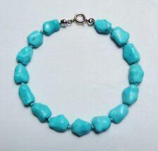 Natur -Türkisarmband Türkis Edelsteinarmband Heilstein Turquoise Bracelet