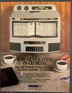 ROWE AMI LaserStar CD Wallette Jukebox Wall Box Advertising Flyer 2000 Box Ship