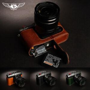 Leather Half Case For Fujifilm X-E3 XE3 Camera Retro Cover Insert TP Handmade
