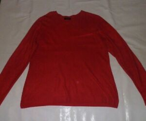 Papaya Classic Red Soft Knit Jumper Size 18