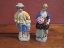 Lot of 2 Vintage Bone China Figurines Man and Woman 6 1/2""