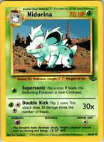 1999 Basic Pokemon Nidorina #30 Jungle Set Common Grass 40/64 70 HP Single Card