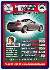 Mercedes SLK 350 #333 Top Gear Turbo Challenge Trade Card (C362)