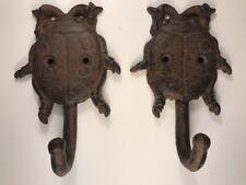 2 LADYBUG COAT HAT Wall HOOKS 5-1/2 rustic cast iron antique style hanger